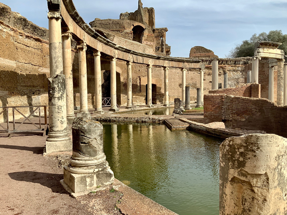 ruins of the Maritime Theater in Hadrian's Villa Adriana