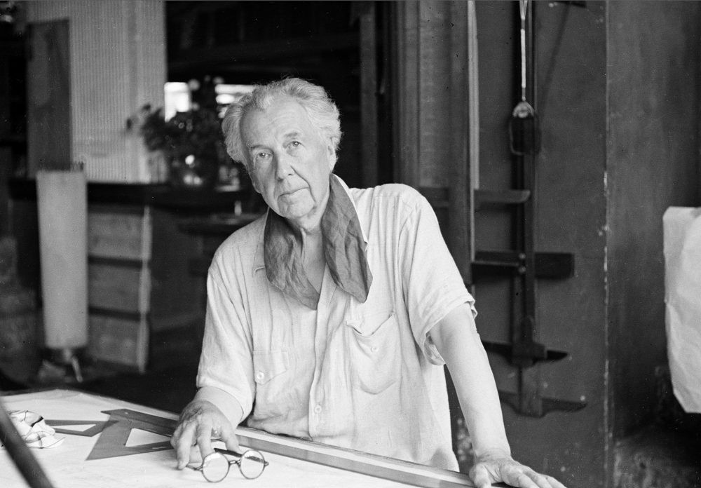 Frank Lloyd Wright, in his studio in 1938