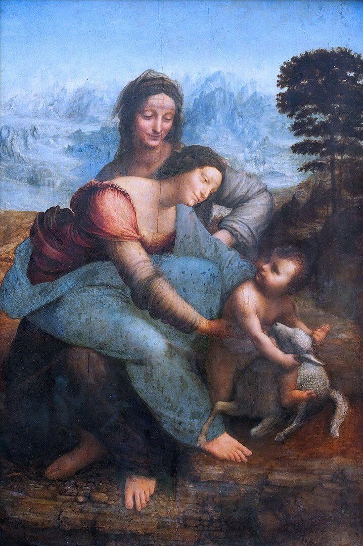 Leonardo da Vinci, Virgin, Child and St. Anne, 1503