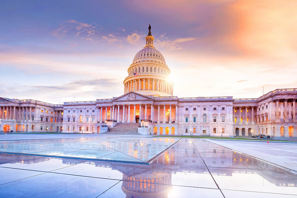 The United States Capitol building with