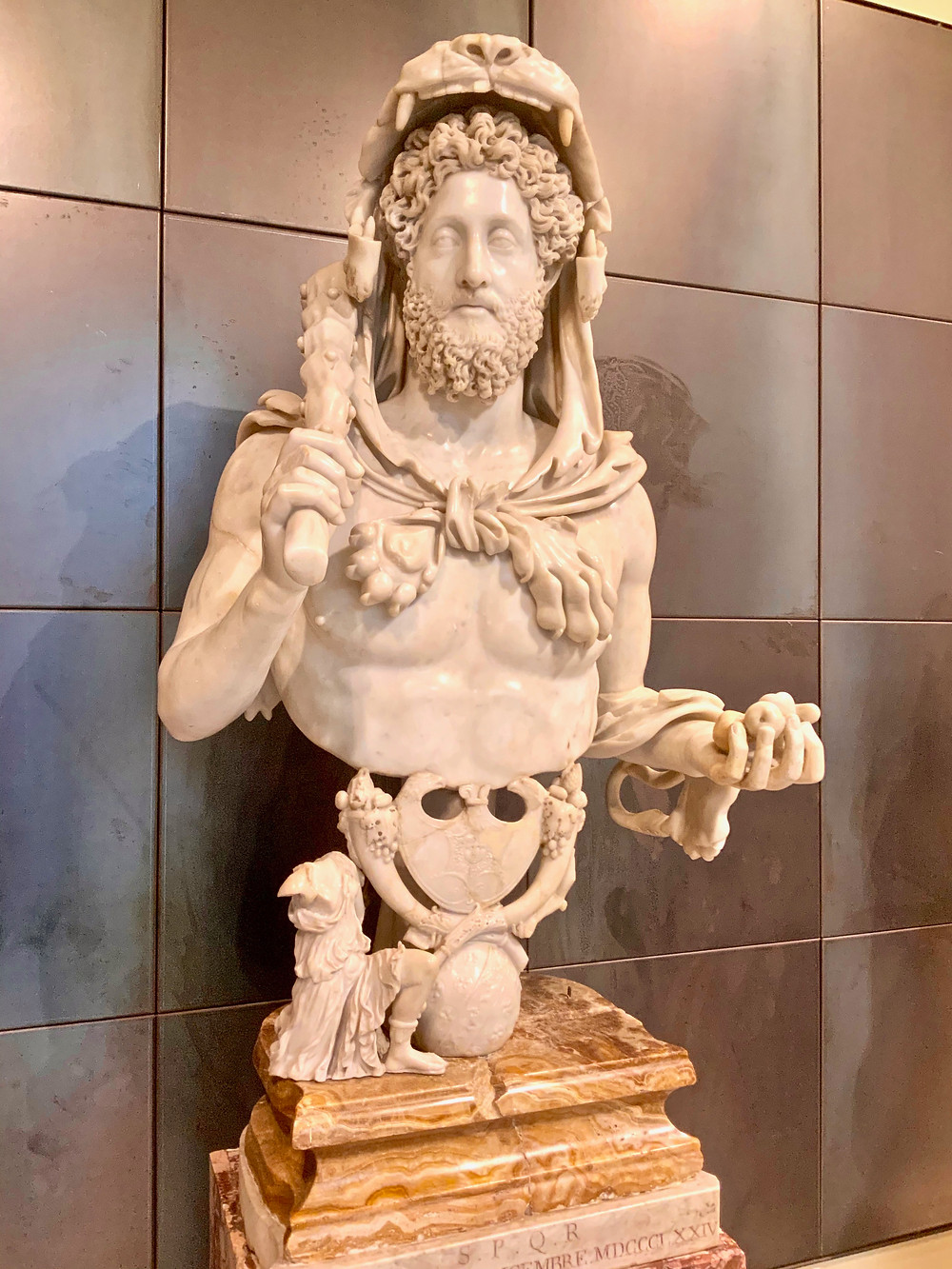 Bust of Commodus as Hercules, late 2nd century