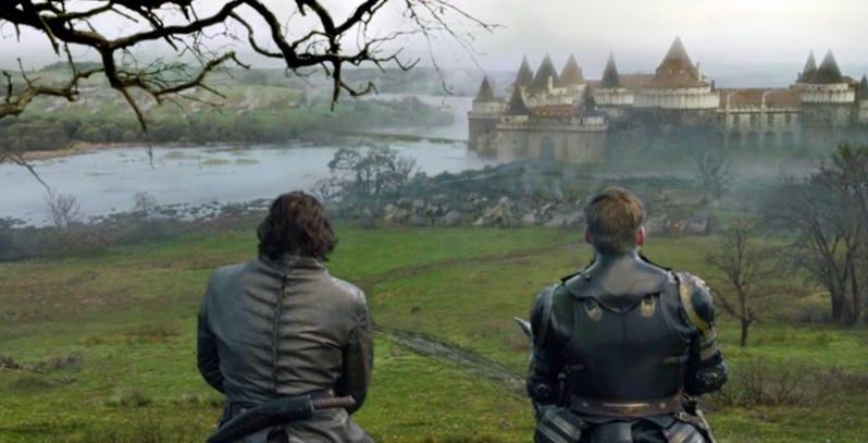 A CGI'd Gosford Castle as Riverrun