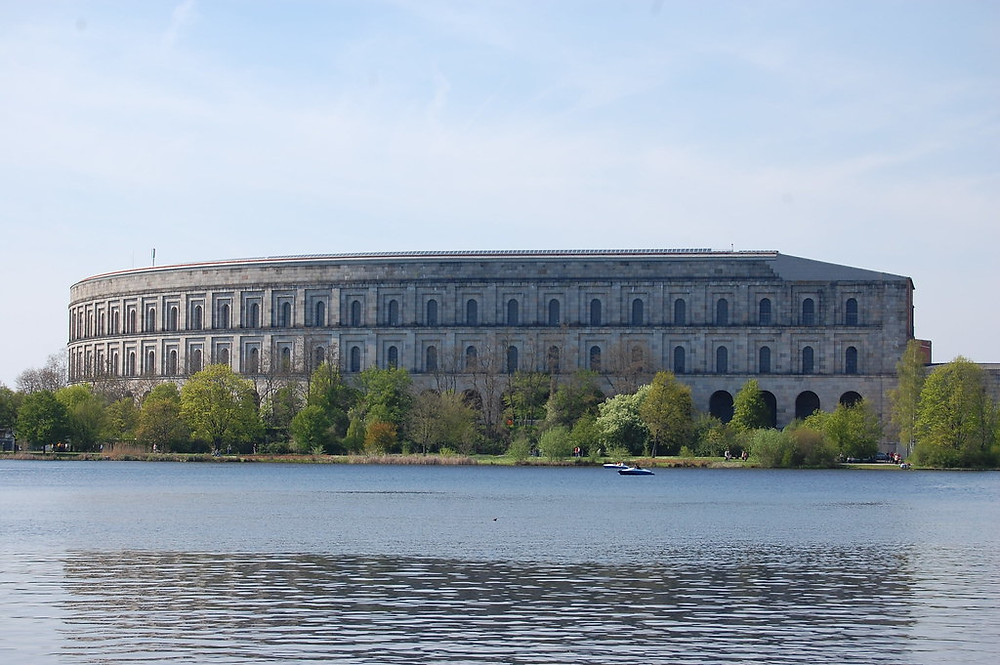 the incredibly ugly and banal architecture that is Congress Hall at the Nazi Rally Grounds in Nuremburg