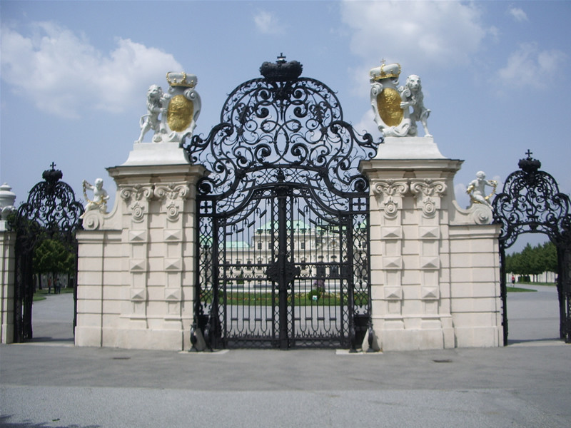 wrought iron gate at the Belvedere Palace in Vienna