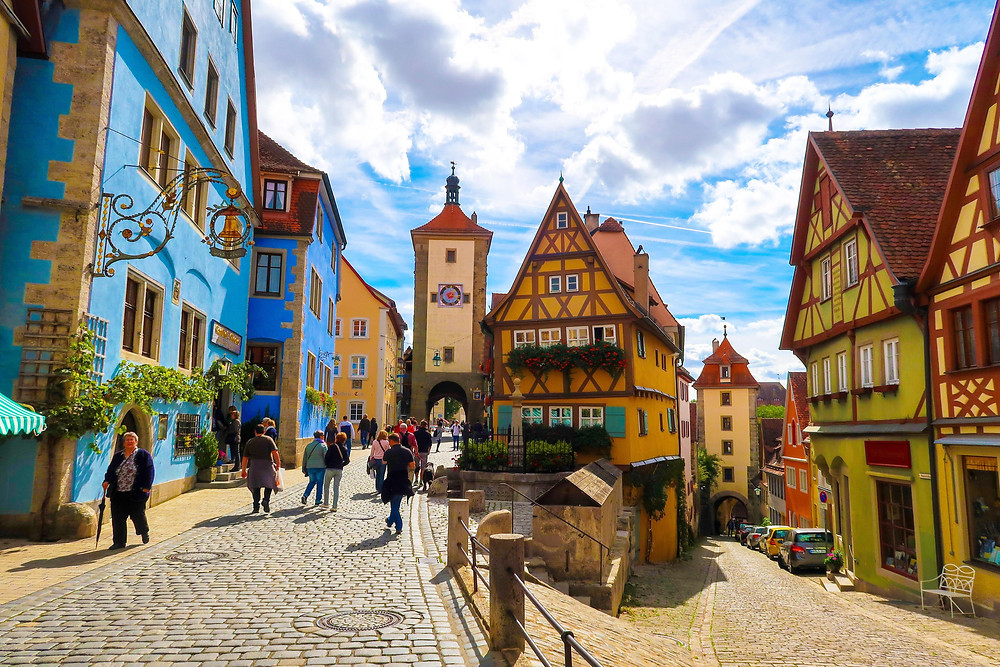 the Plönlein area of Rothenburg ob der Tauber -- one of the most iconic shots of Rothenburg ob der Tauber