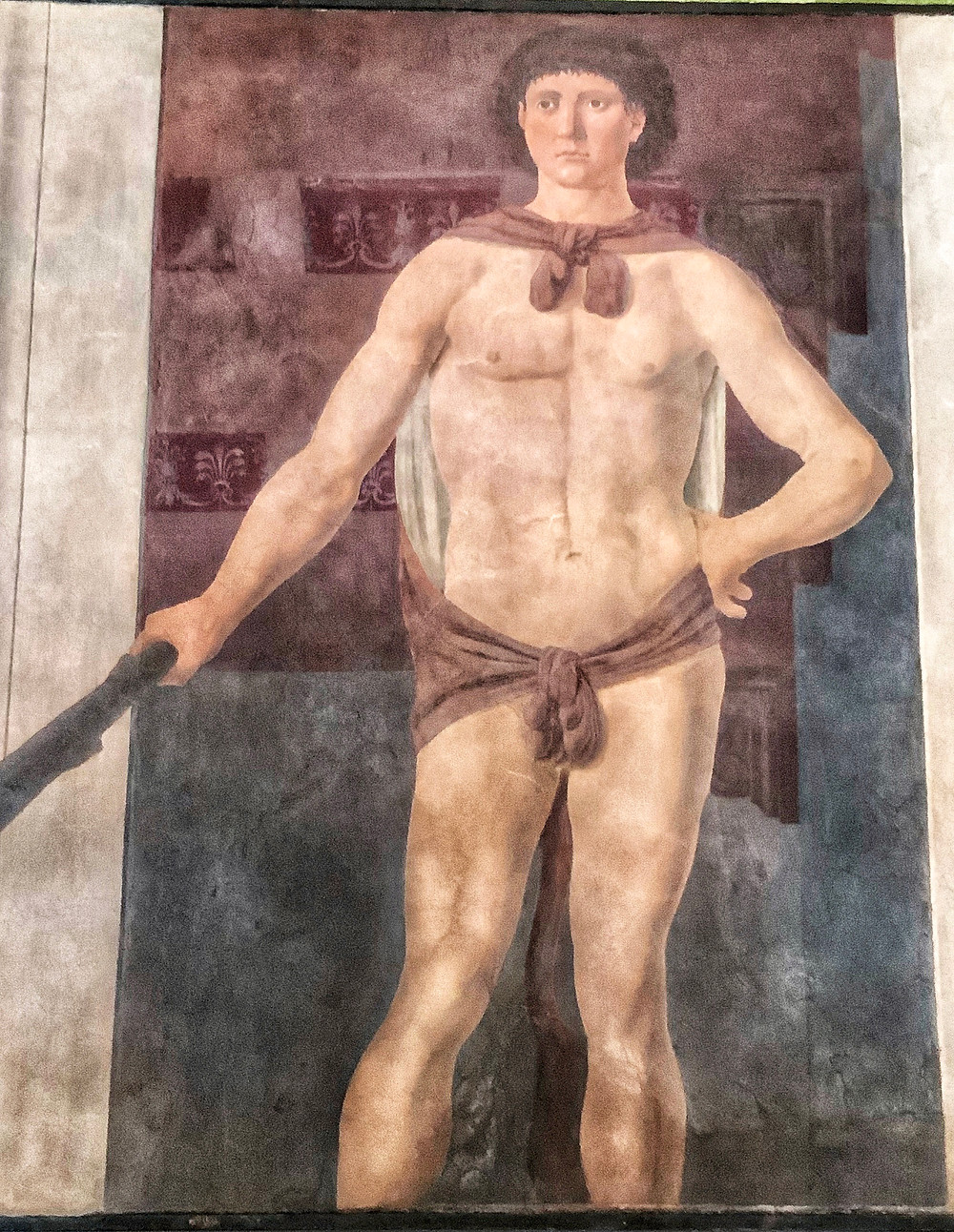 Pierro Della Francesca's Hercules, 1470, in the Early Italian Room