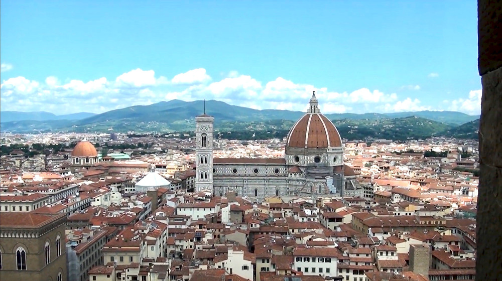 view of the Duomo from the Tower of Arnolfo