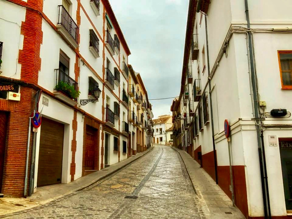 the lovely cobblestone streets and white stone houses of Antequera