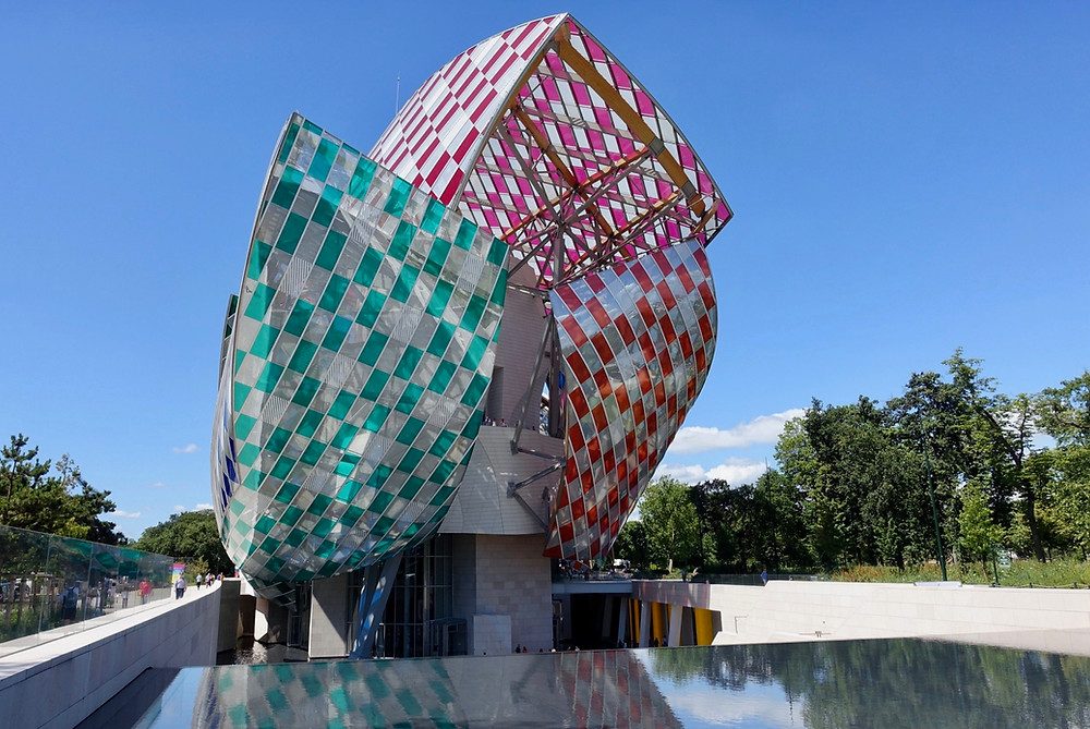 the Gehry-designed Louis Vuitton Foundation in Paris