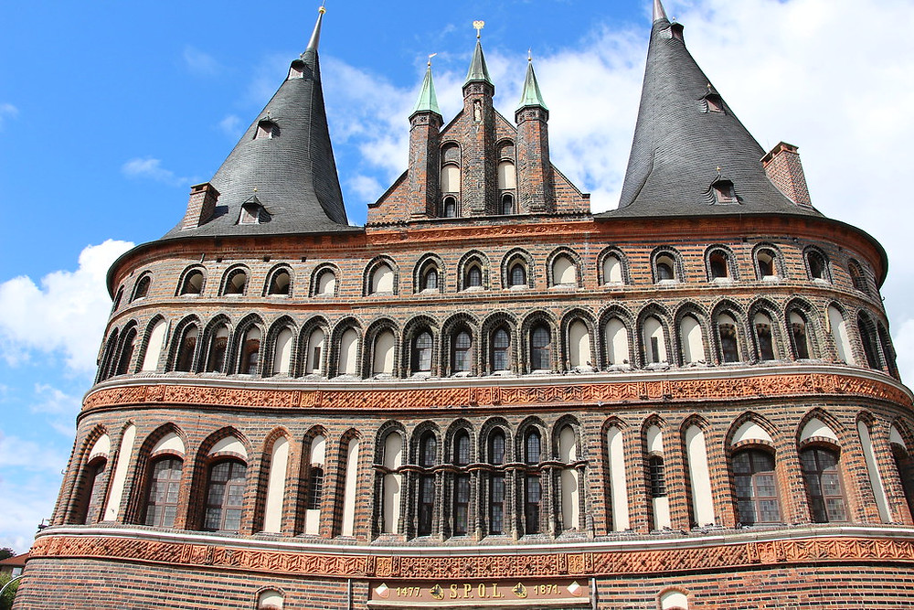towers of the Holsten Gate in Lubeck
