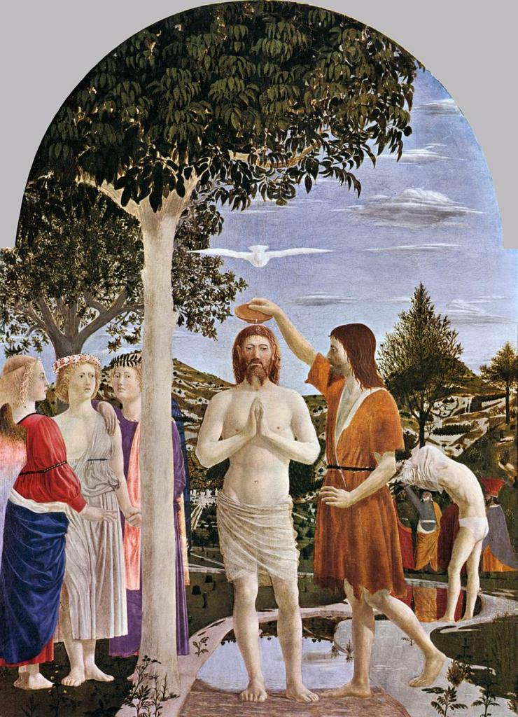 Piero della Francesca, Baptism of Christ, 1448-50 -- in London's National Gallery