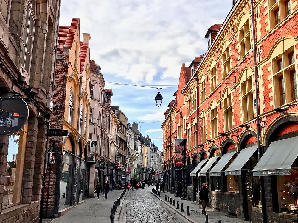 cobblestone streets of Lille
