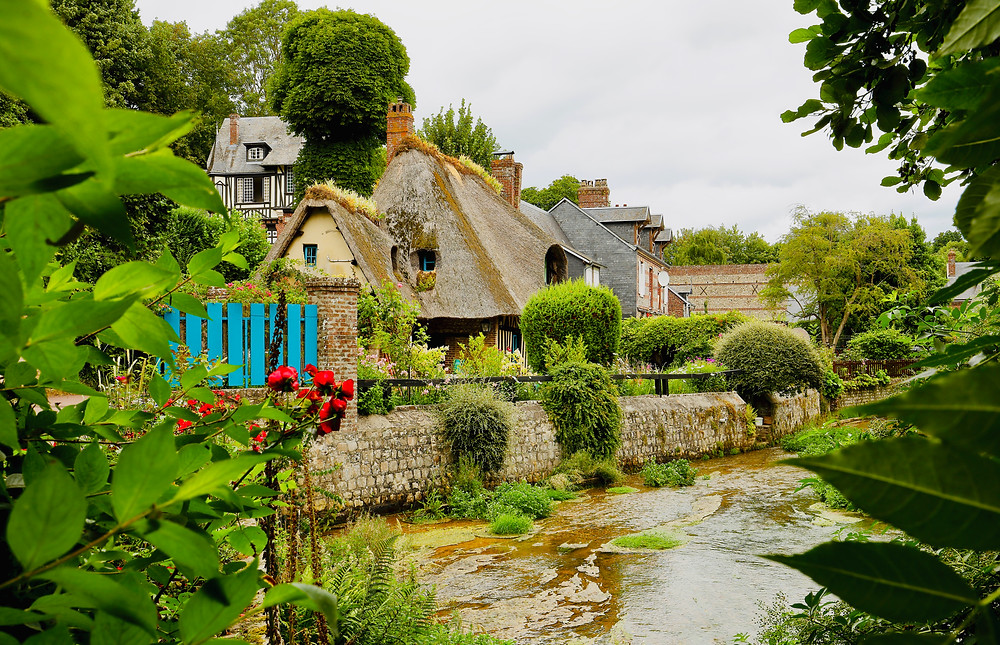 the quaint Norman town of Veules-les-Roses