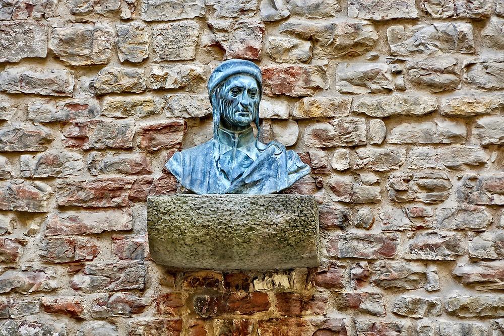 Bust of Dante Alighieri at Dante's Museum