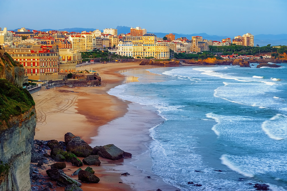 Biarritz and its famous beaches - Miramar and La Grande Plage