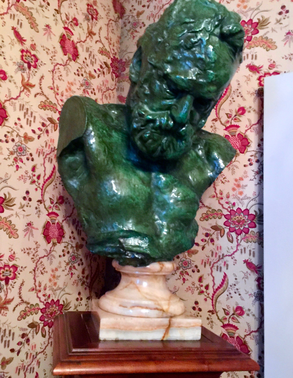 a bust of Victor Hugo by Auguste Rodin