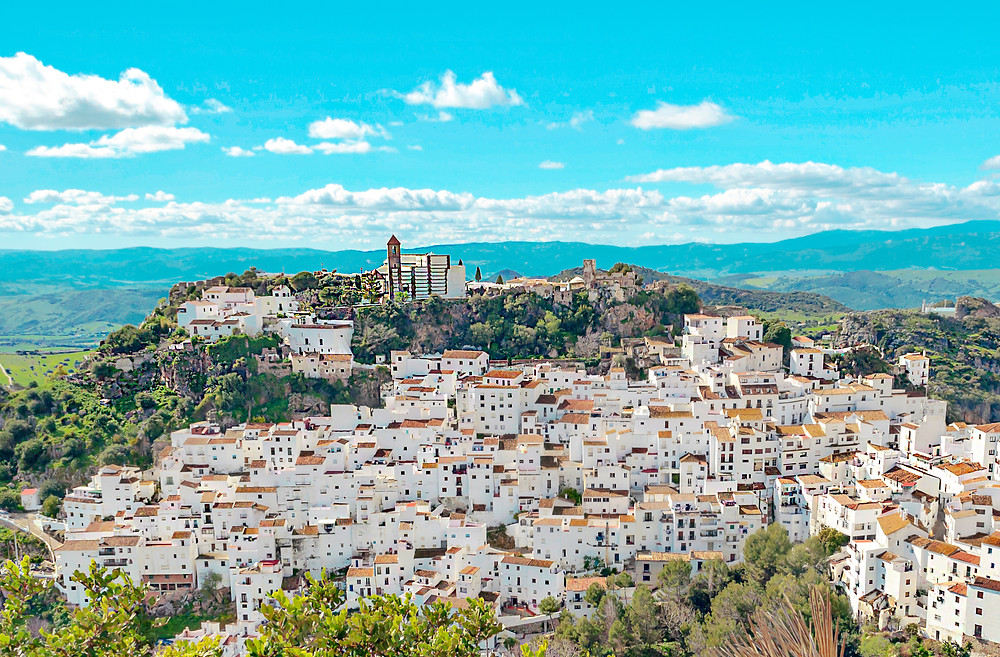 the ridiculously photogenic town of Casares in Andalusia