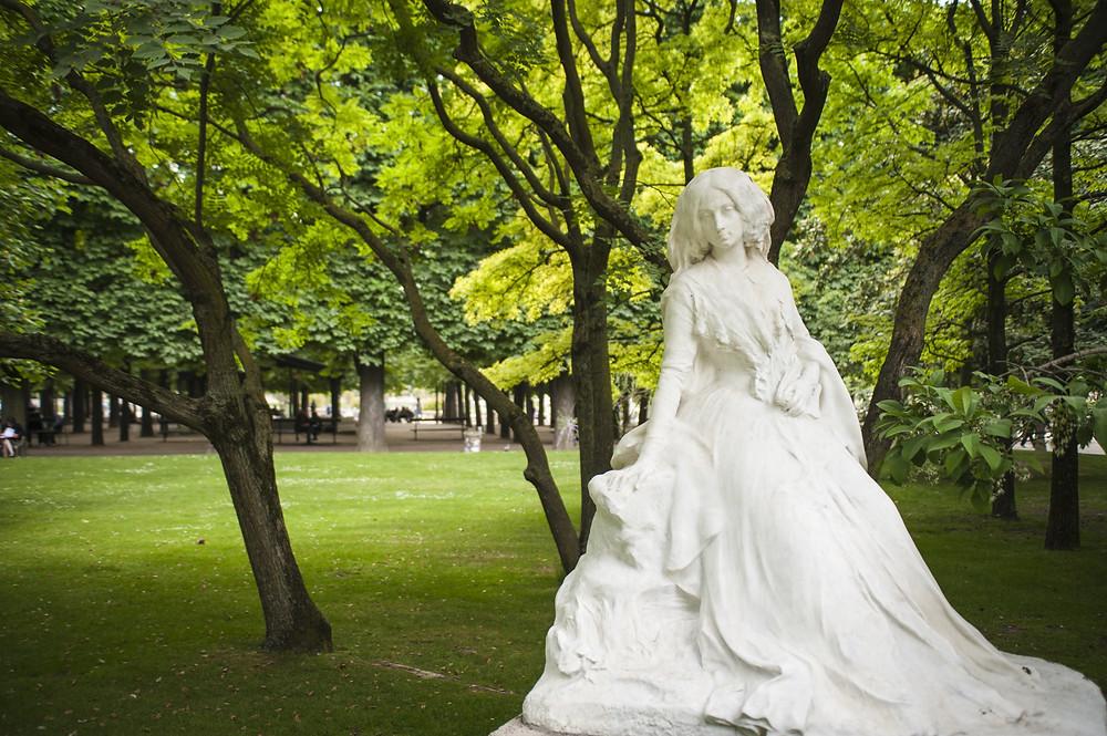 statue of George Sand in Luxemburg Gardens