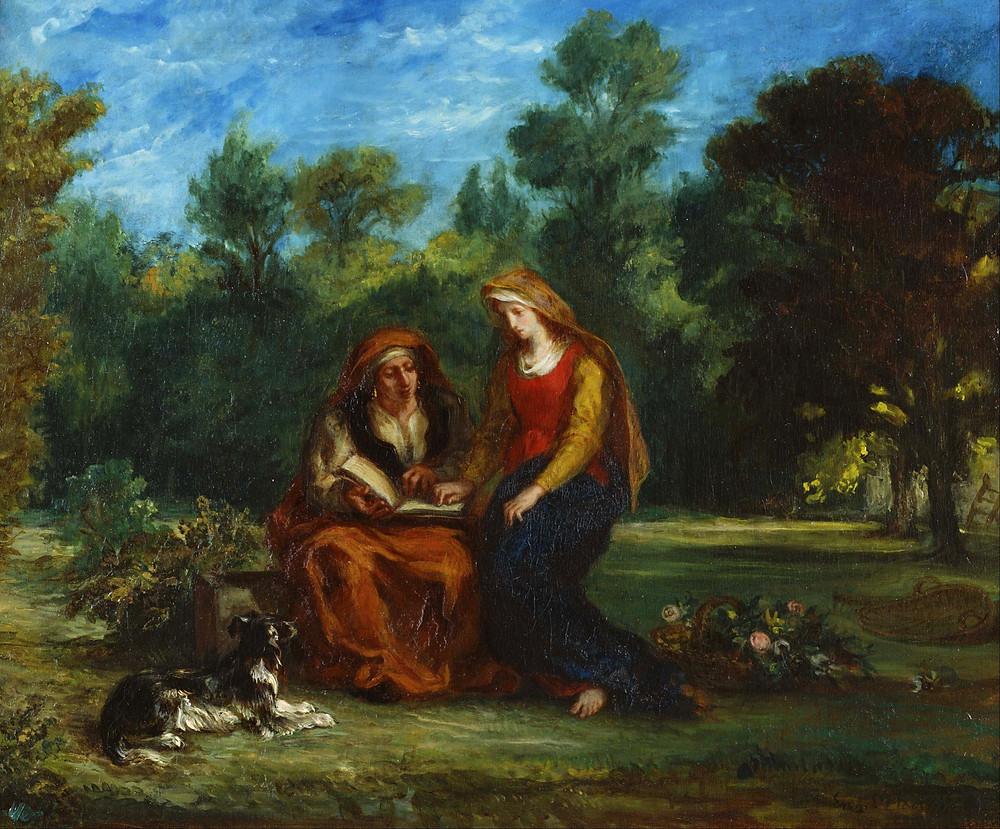 Eugene Delacroix, The Education of the Virgin  1842