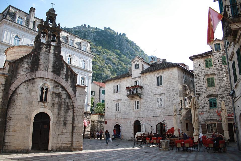 the well preserved 12th century St. Luke's Church on St. Luke's Square in Kotor