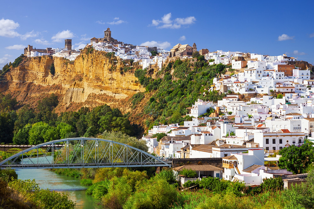Arcos de la Frontera -- the queen of the Spanish white pueblo towns -- with its sugar cube white houses
