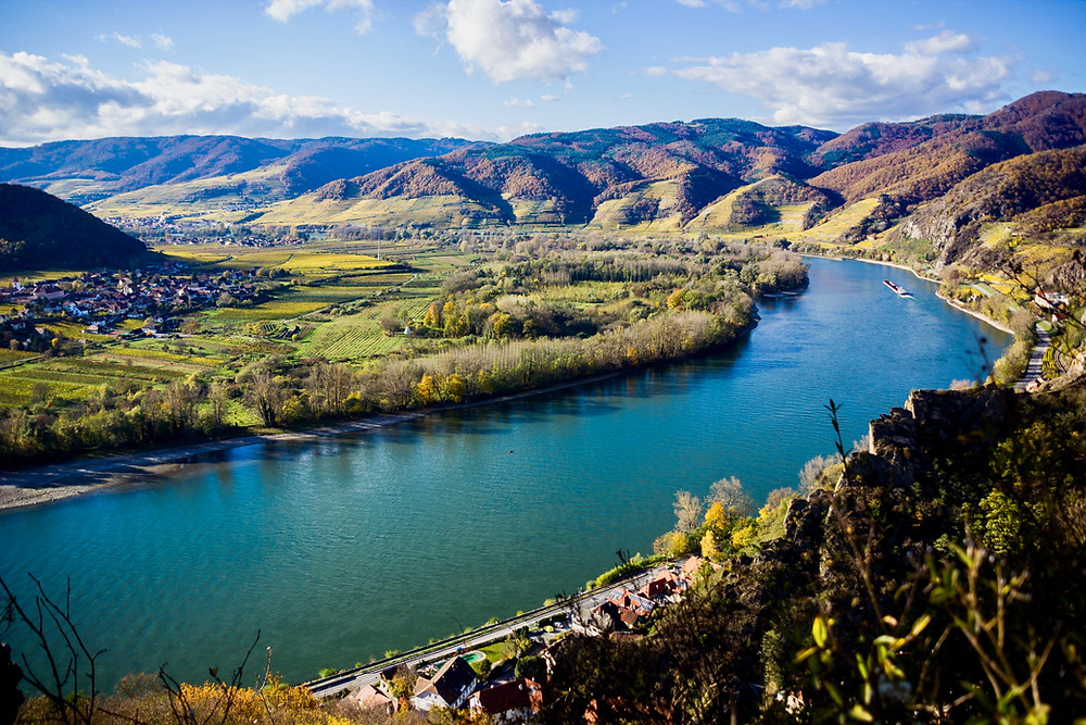 beautiful landscape of the Wachau Valley on Austria's famed Danube River