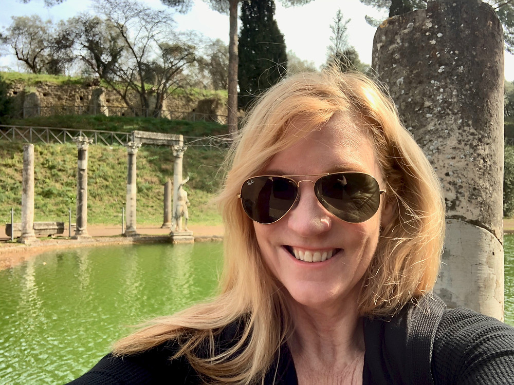 me at the Canopus of Hadrian's Villa