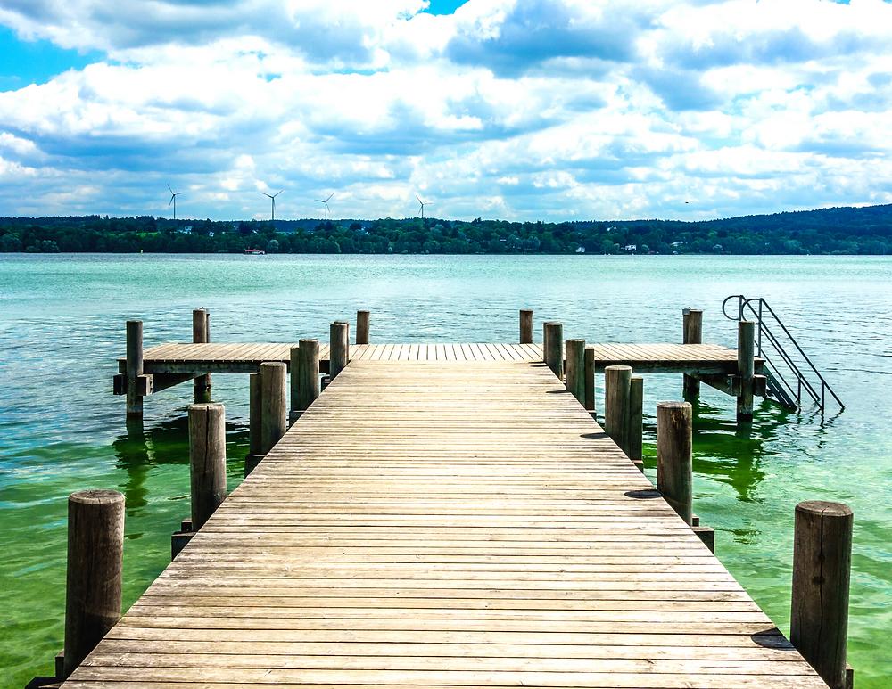 Lake Starnberg in Bavaria, where Ludwig II's body was found in waist deep water