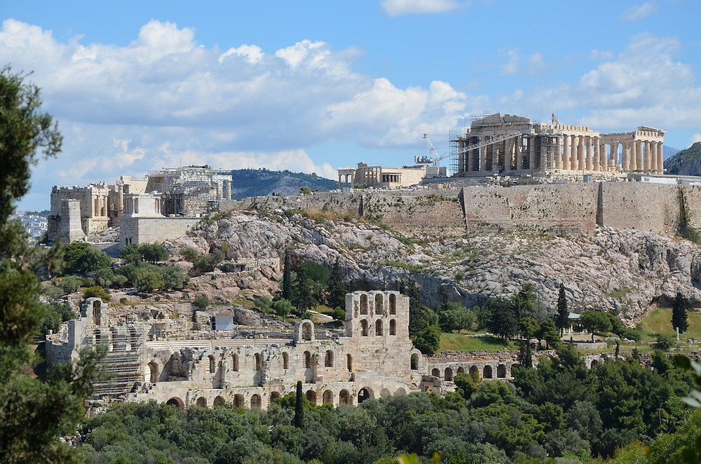 the Acropolis viewed from the Hill of Muses