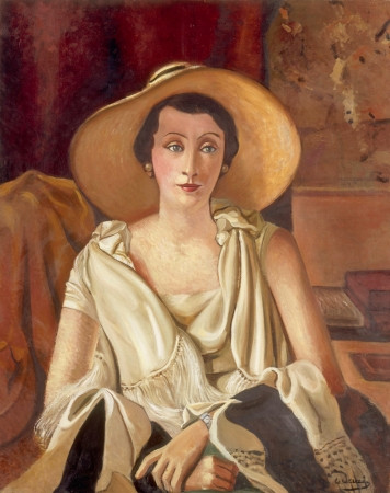 Andre Derain, Portrait of Madame Paul Guillaume with a Large Hat, 1928-29