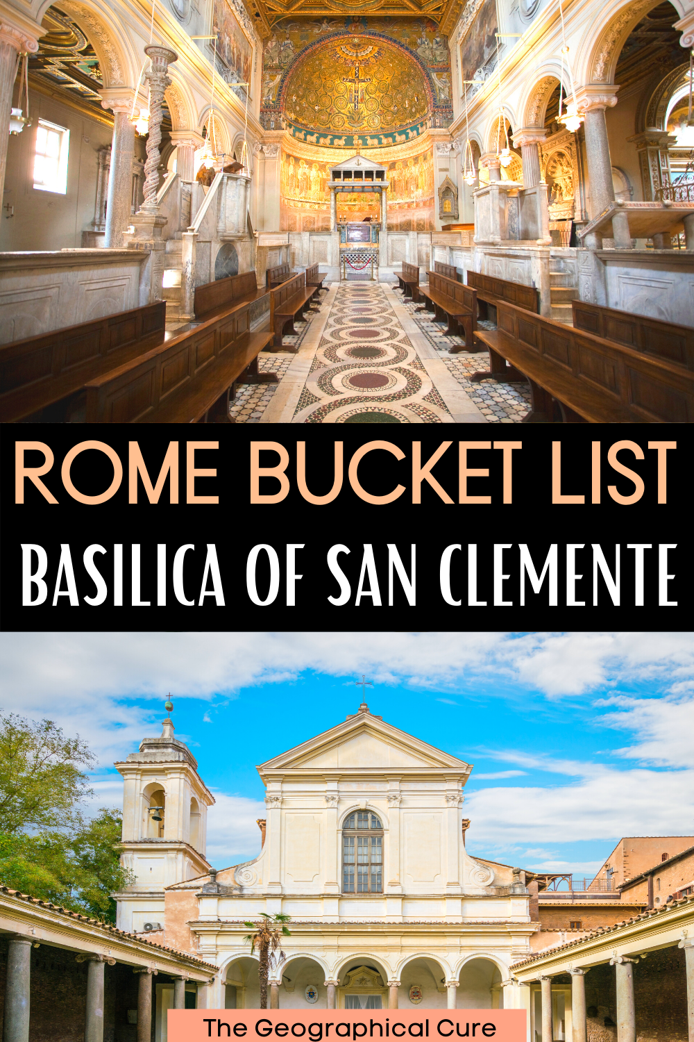 visitor's guide to the Basilica of San Clemente in Rome Italy