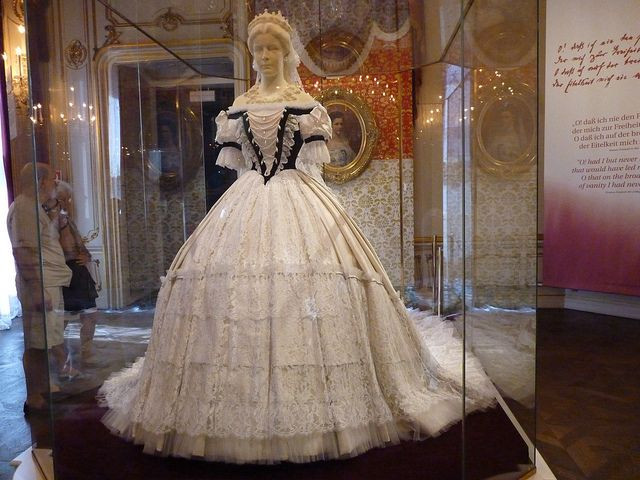 the gown Sisi wore for her coronation as queen of Hungary