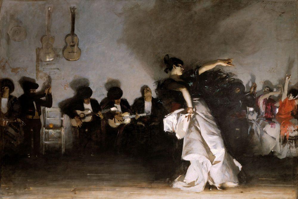 John Singer Sargent, El Jaleo, 1882 -- in the Spanish Cloister