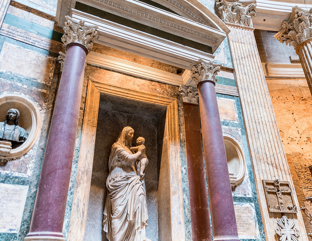 Raphael's tomb in the Pantheon