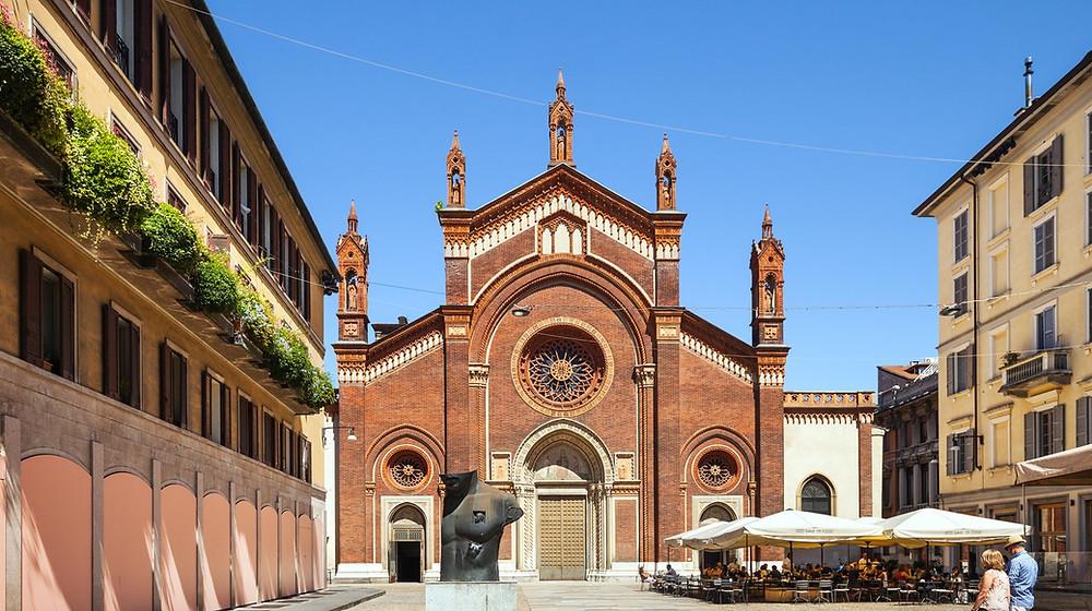 Piazza del Carmine in Milan's Brera district