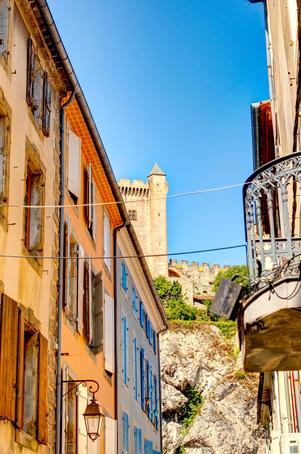 pretty street in Foix France