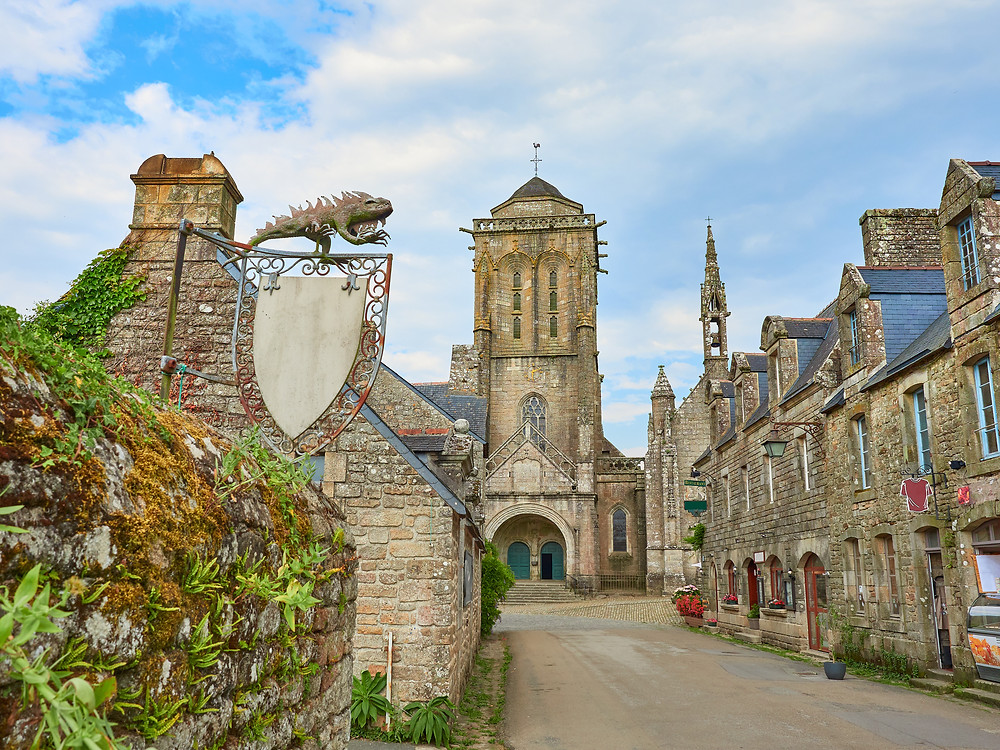 main street in the medieval town of Locronan
