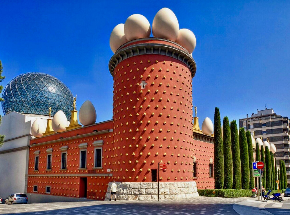 the surrealistic The Dali Theater and Museum in Figueres Spain, outside Barcelona