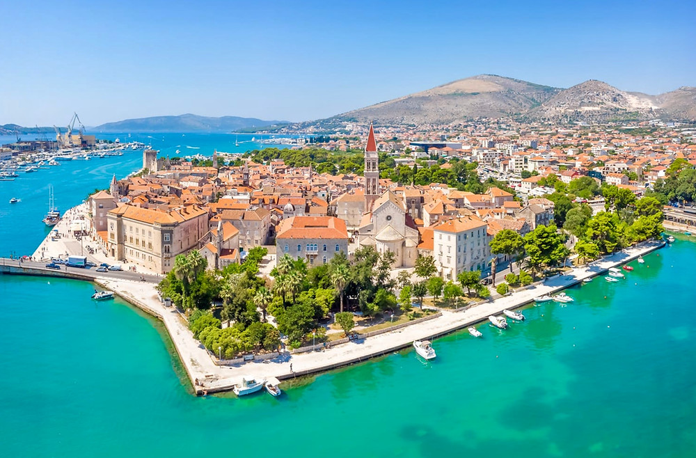 the stunning UNESCO-listed town of Trogir