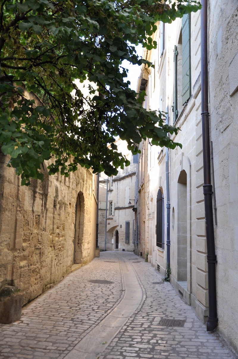 a quiet cobbled lane in lovely Uzes