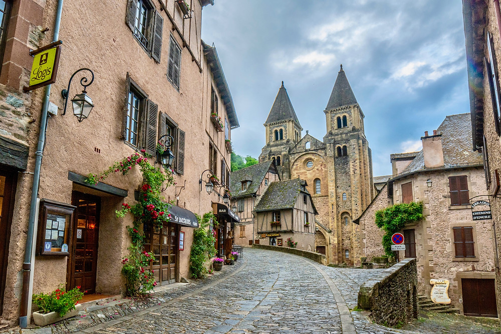 the medieval village of Conques in France's Occitainei region
