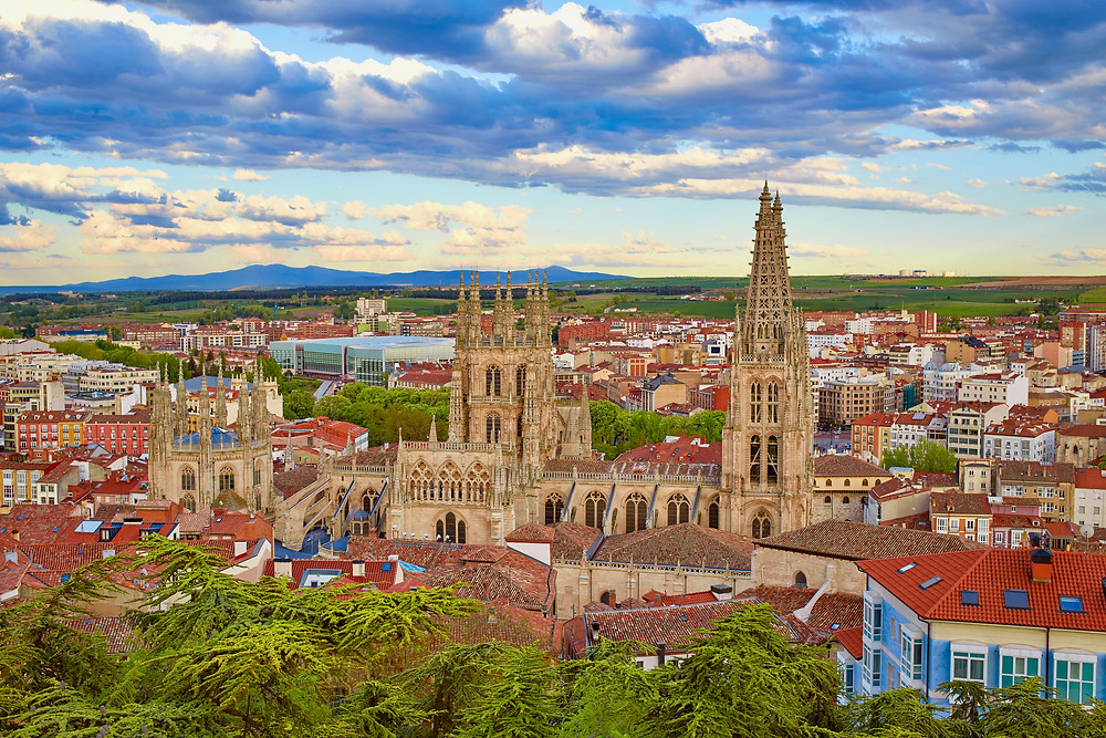 aerial view of Burgos Cathedral