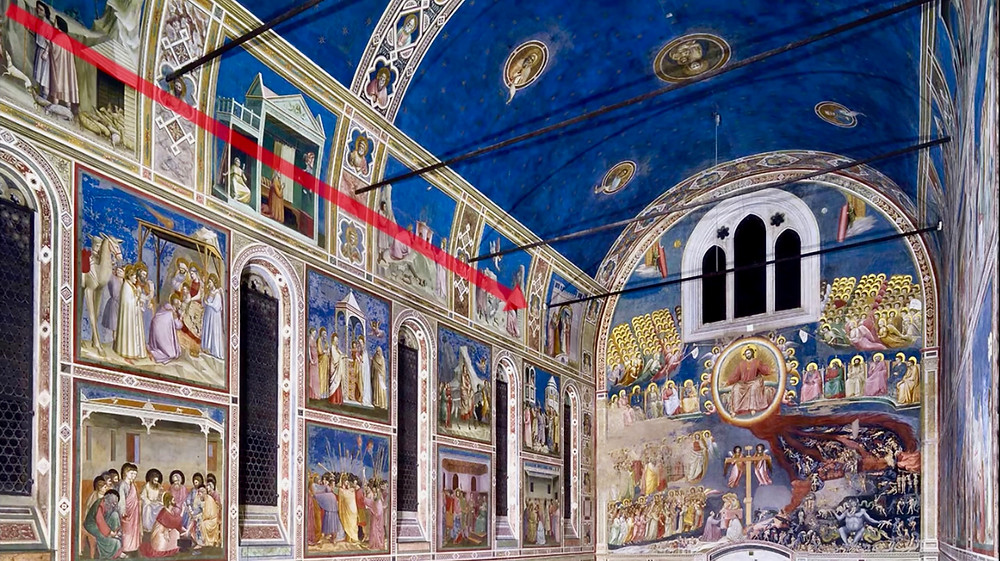 Giotto frescos in the Scrovegni Chapel