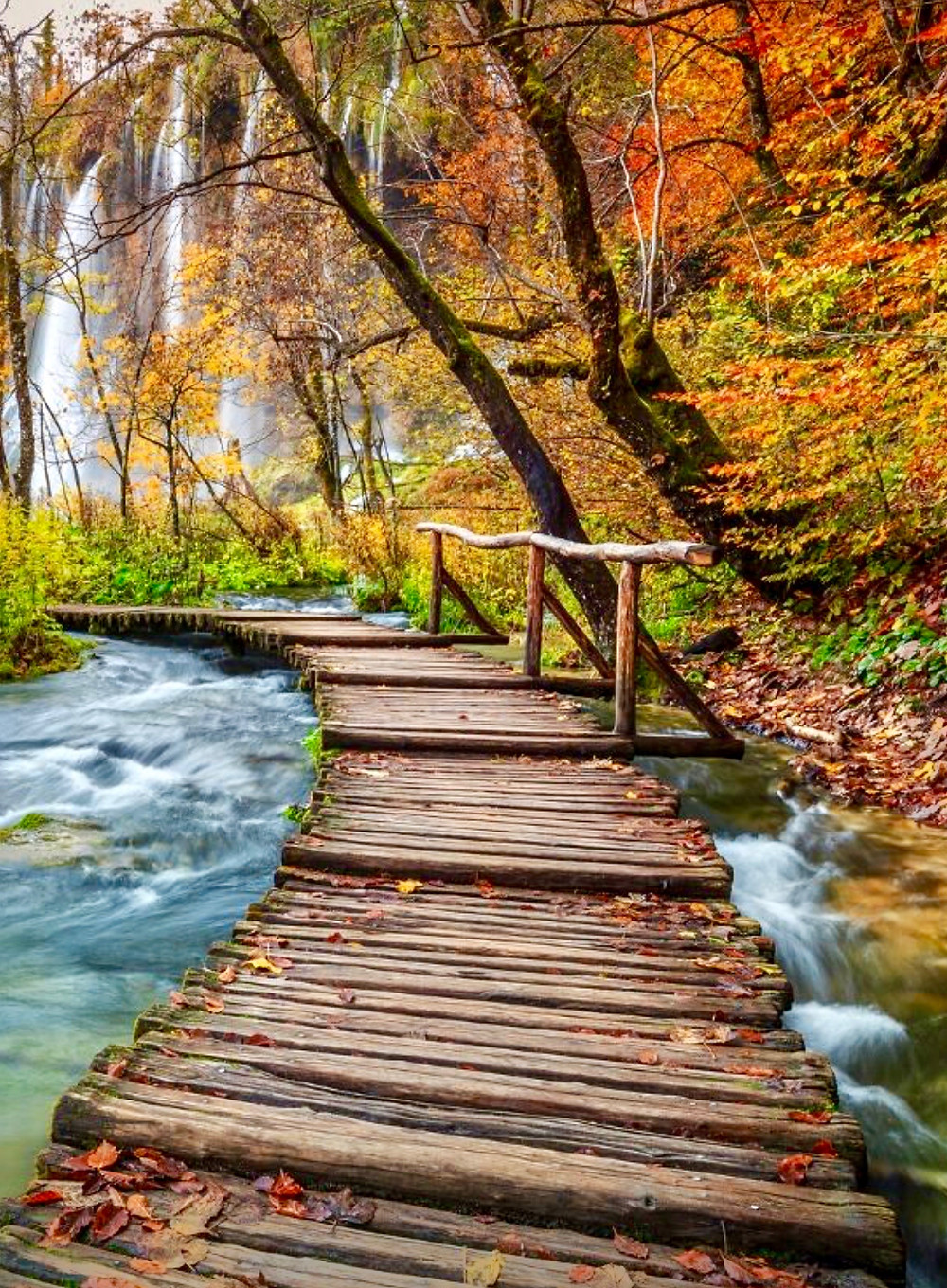 boardwalk in Plitvice Lakes National Park