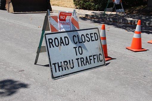Rue Picot closed due to the Paris marathon