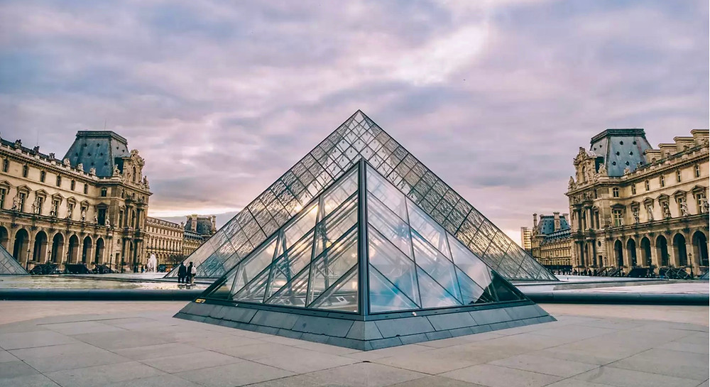 the Louvre Museum, home of the Mona Lisa