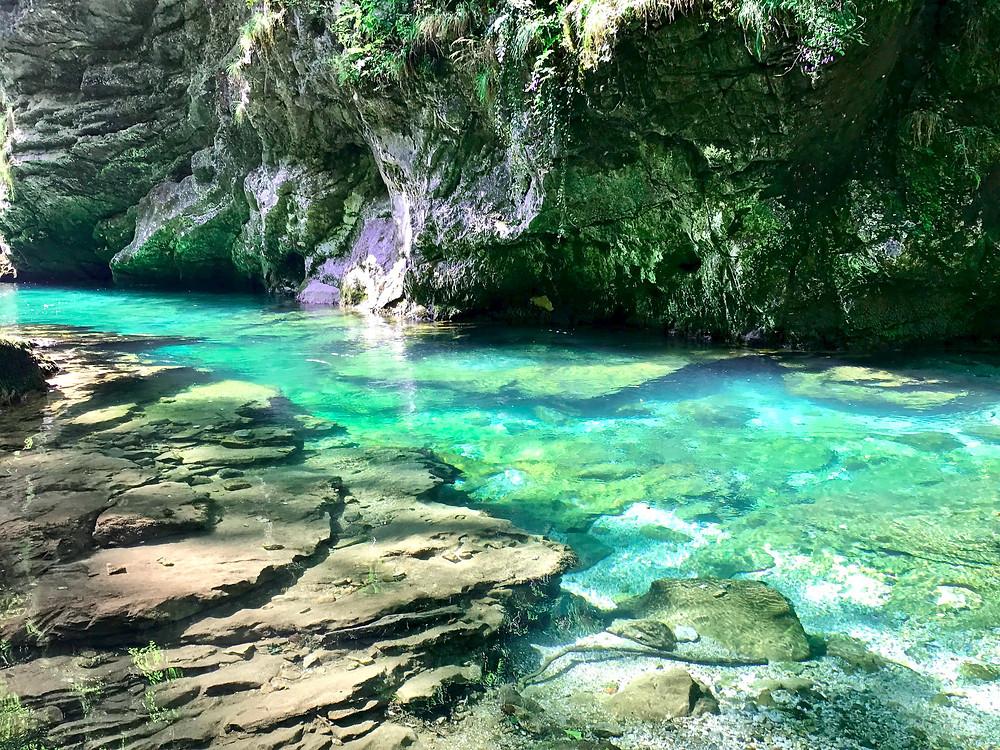 beautiful Vintgar Gorge