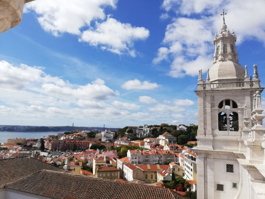 view from the monastery rooftop, one of the best views in Lisbon
