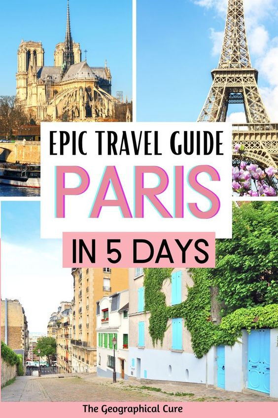 prefect itinerary for 5 days in Paris France