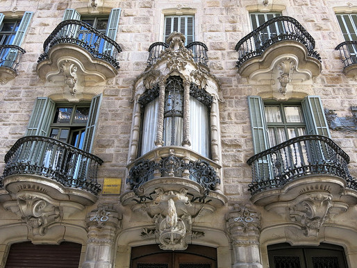 Gaudí's Neo-Baroque Casa Calvet In Barcelona